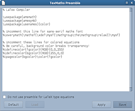 TexMaths Homepage