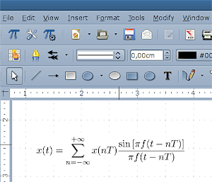 Example of TexMaths formula
